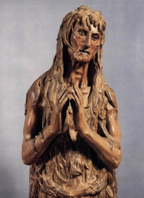 "Donatello, ""St. Mary Magdalen"" (detail) c.1453-55."