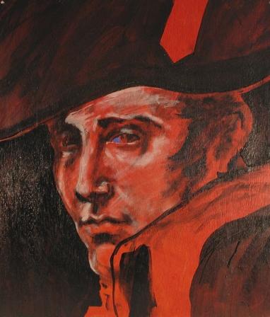 """""""Napoleon"""" Acrylic on Wood 18'x18"""" (2004)"""