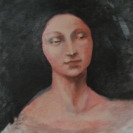 """Enigmatic"" Acrylic on Wood 18""x18"" (2004)"