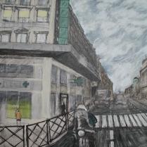 """Paris"" Acrylic on canvas 24""x30"" (2004)"