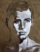 """Rock"" Acrylic on canvas 48""x48"" (2007)"