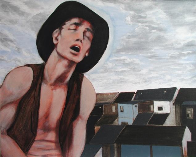 """Tex"" Acrylic on canvas 24""x30"" (2007)"